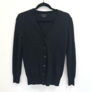 J. Crew cashmere button cardigan black XS